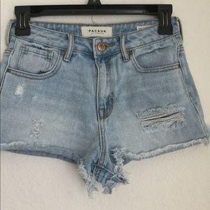 PacSun Denim Distressed Shorts Size 25